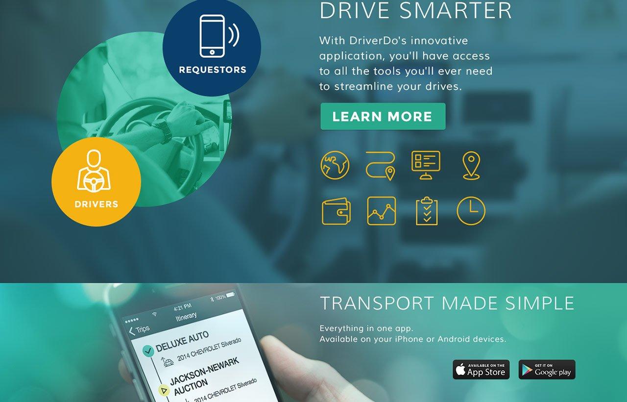 DriverDo web application design