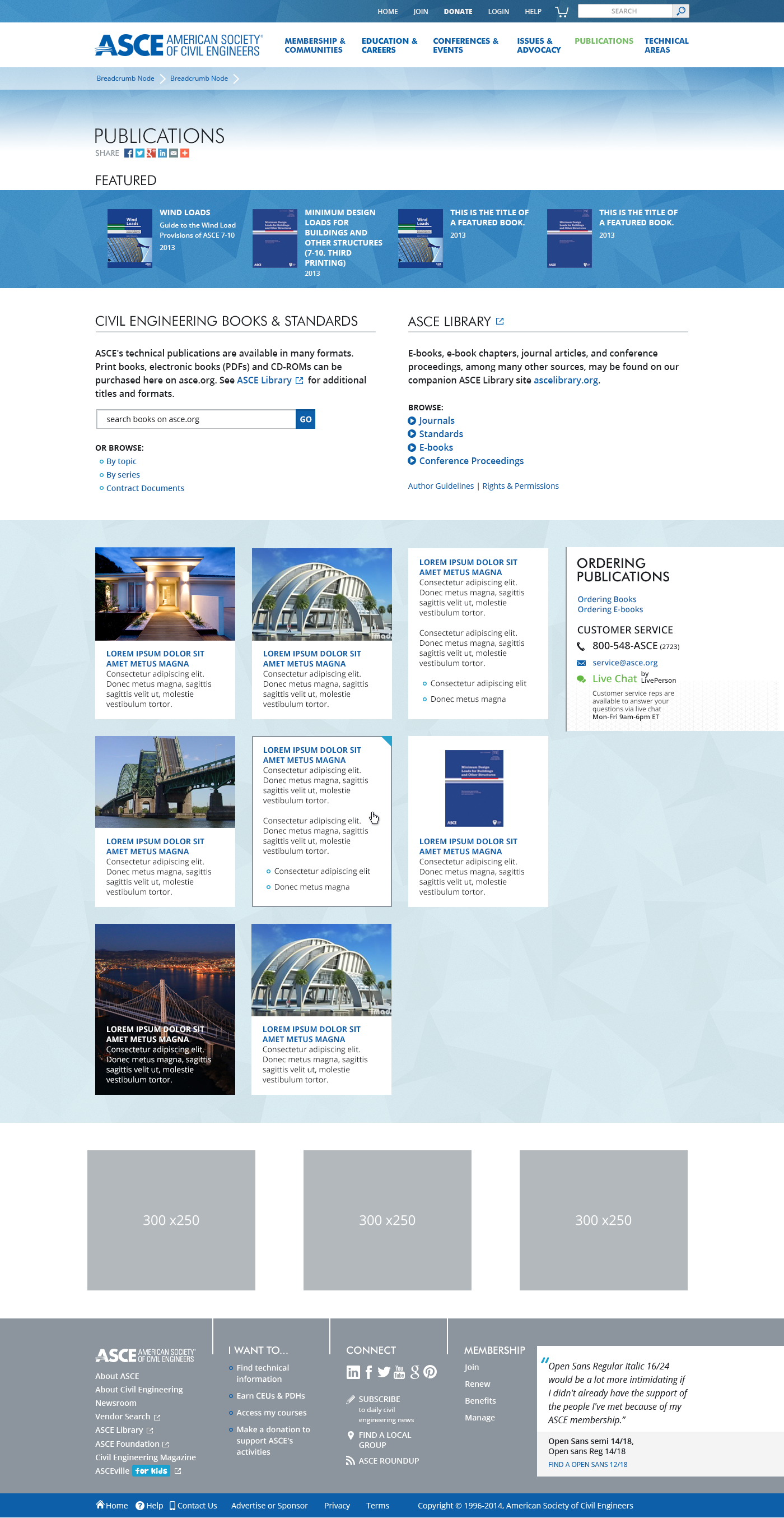 ASCE publications template