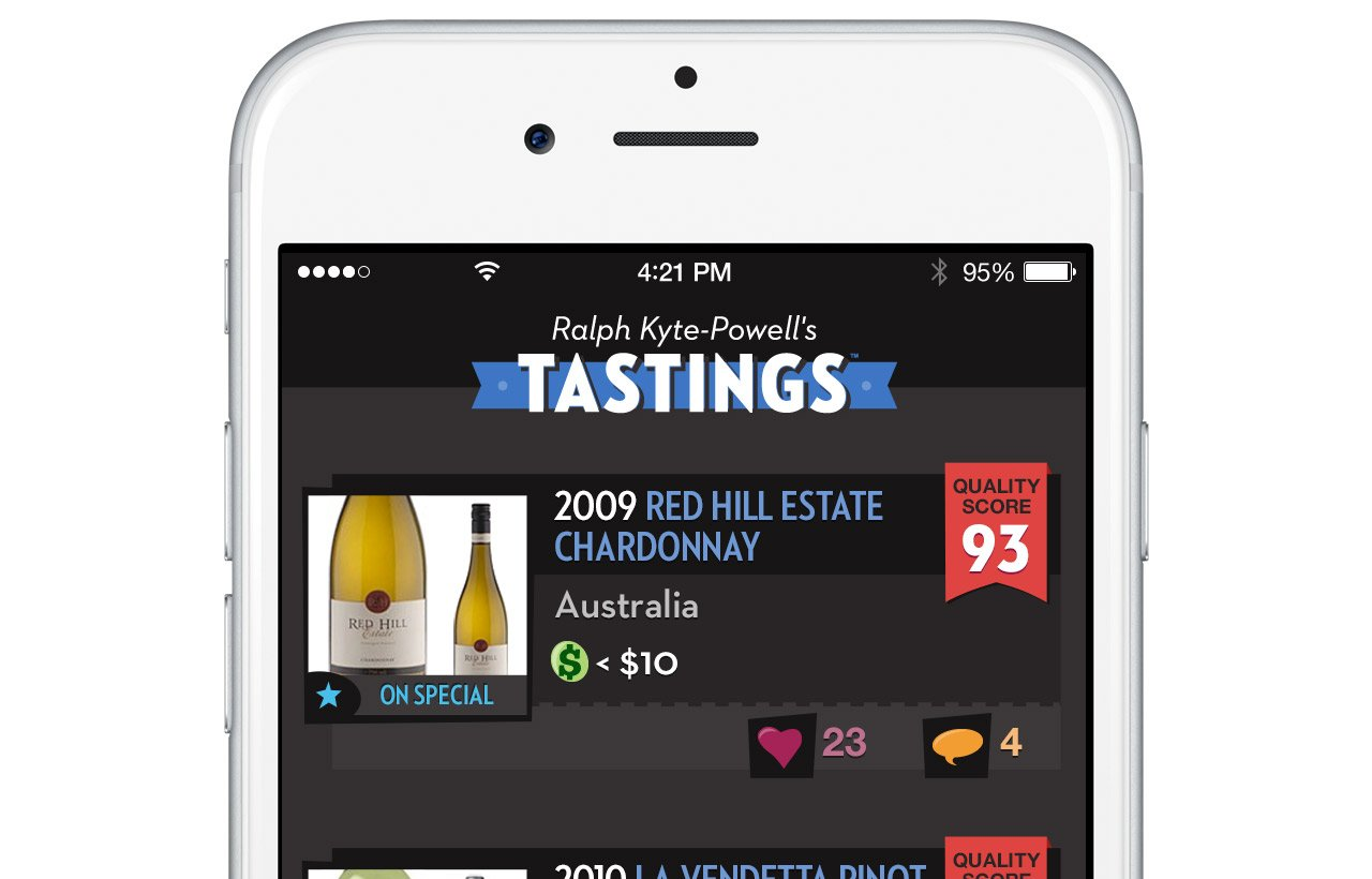 Tastings iOS application design