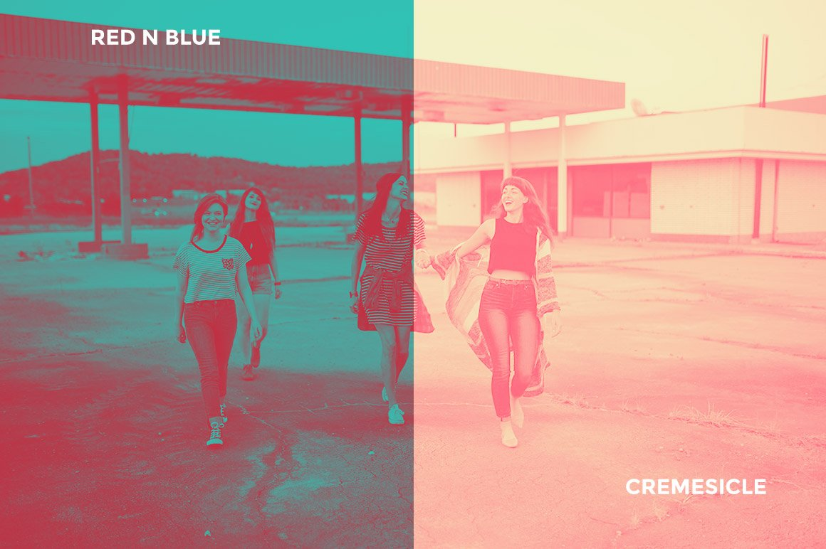 Red N Blue / Cremesicle
