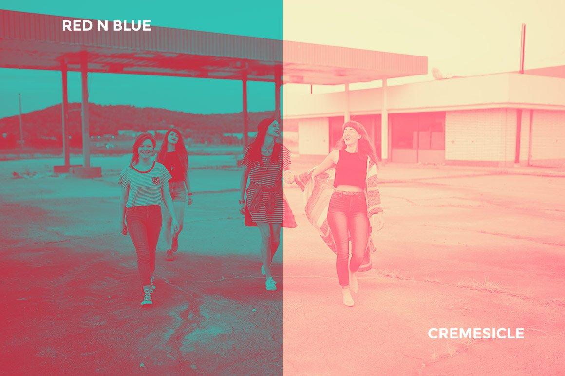 Red N Blue / Cremesicle