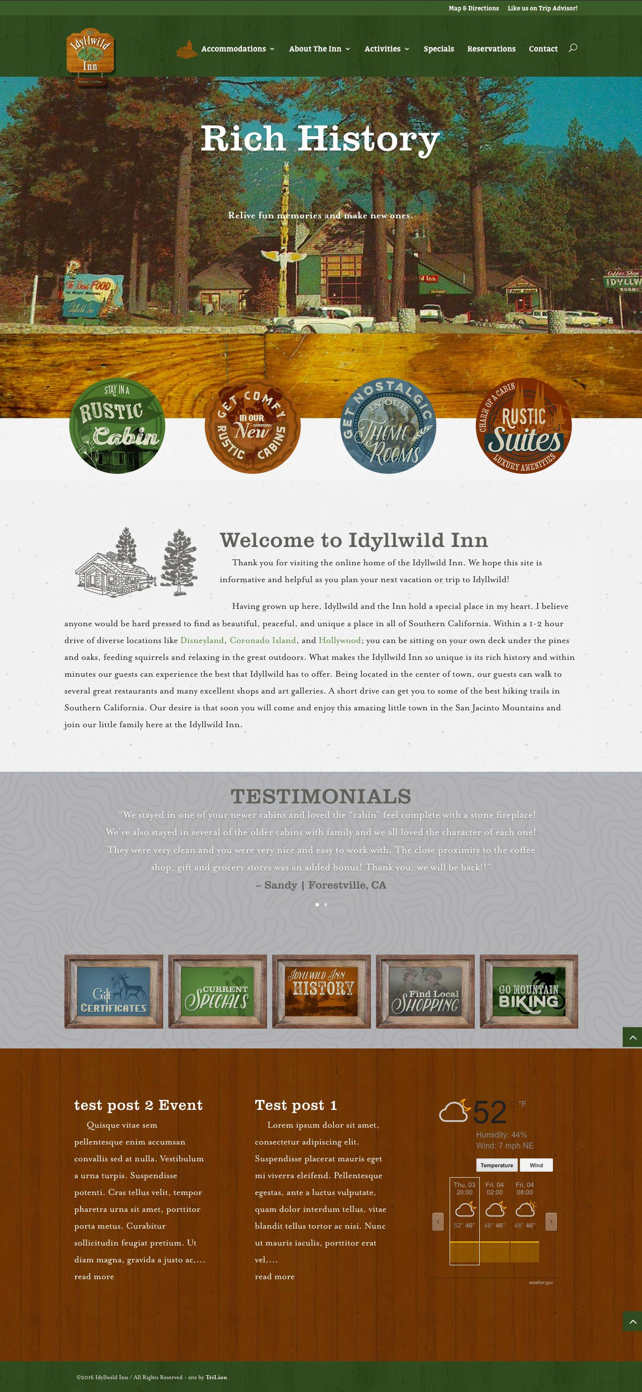Idyllwild Custom WordPress Child Theme