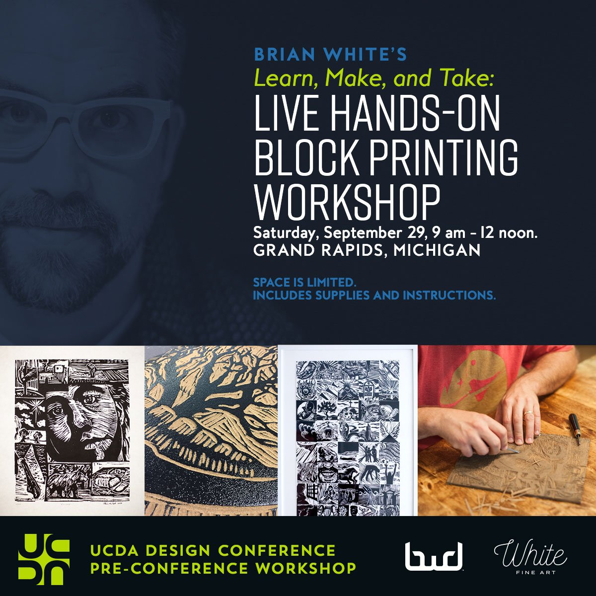 UCDA Block Printing Class with Brian White
